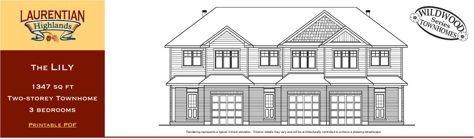 Lily elevation rendering